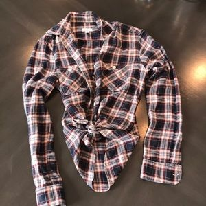 Steven alan fitted flannel shirt